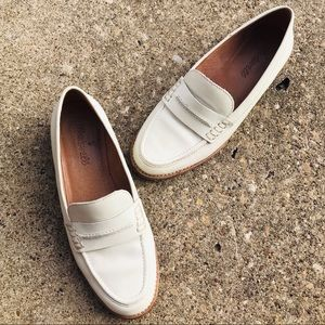 Madewell Shoes - Madewell Elinor Loafers Leather White Slip-ons